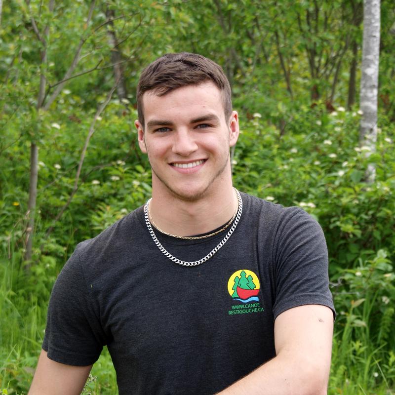 Samy Querry, journalier - Arpin Canoe Restigoucheseasonal employee